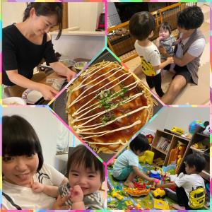広島焼きパーティー♡可愛い子供たち♡