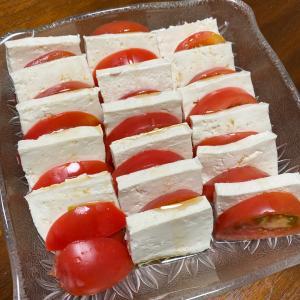 トマトと豆腐のカプレーゼ☆