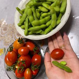 ミニトマト &  枝豆♡