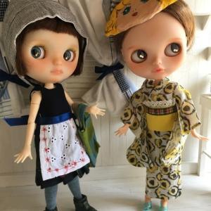 浴衣&夏ワンピセットをヤフオクに出品しました。