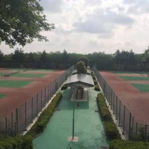 岐阜県 養老公園テニスコートで最後の2時間マンツーマンレッスン