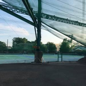 新規生徒さんと横浜市立場テニスコートでマンツーマンレッスン