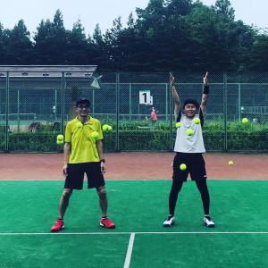 会いに行くテニスコーチ、またまた岐阜県養老公園へプライベートレッスンしに行ってきました。