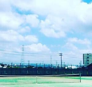 大口町テニスコートでストレート雁行vs雁行の形式レッスン(岐阜、愛知、静岡へ会いに行くプライベートレッスンその2)