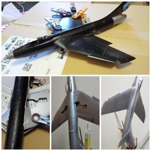 イギリス戦闘機 ホーカー ハンター 製作記 201201
