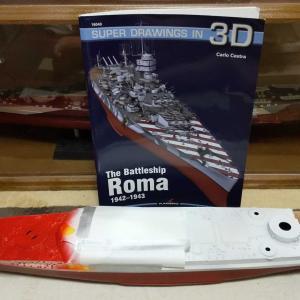 イタリア戦艦ローマ制作20210615