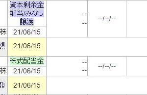 [6178]日本郵政からみなし配当