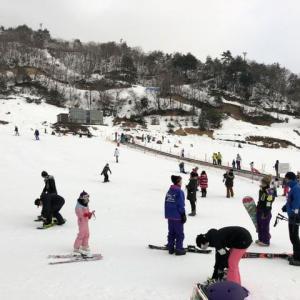 国境高原スノーパークにて、シーズン初スキー
