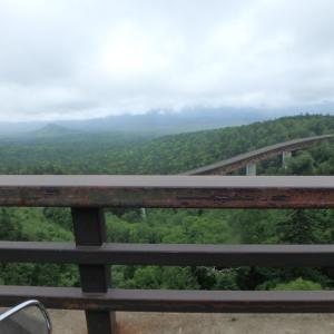 北海道ツーリング5日目、タウシュベツ橋と幌加駅跡からの三股山荘と三国峠