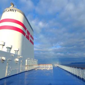 北海道ツーリング10_いよいよ小樽港から北海道を離れます
