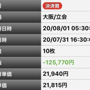日経先物勝負手No26結果(2020年7月31日-夜)