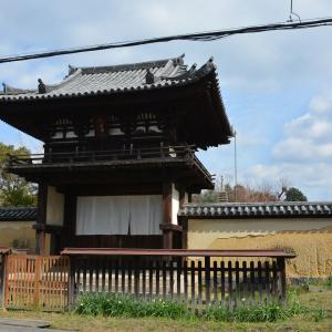 楼閣作り 般若寺桜門 奈良の住宅地にある国宝