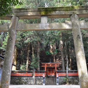 「塔の森」下の日吉神社 石仏石塔 南田原