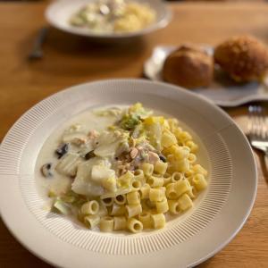 【レシピ】離乳食完了期にも!ディターリリーシを使った鮭と白菜のクリームスープパスタ