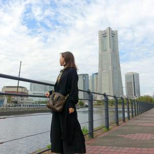 旅行最終日、横浜で夫婦コーデ♪
