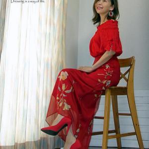 今年のお誕生日のドレスコードは赤いドレス♪