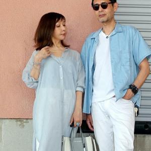 【しまむら】コットンボイルシアーシャツで爽やか夫婦コーデ♪