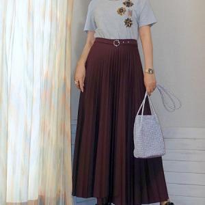 秋カラープリーツスカートを最終セールでGET♪