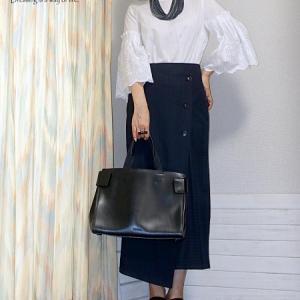 【ZARA】ピンストライプタイトスカートで秋コーデ♪