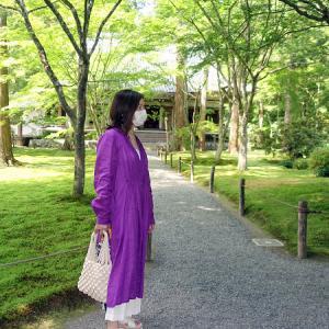 三千院で紫陽花リンクコーデのはずが、、、