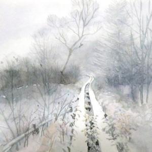 八島湿原雪景色