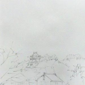 コーヒーで城を描いてみる