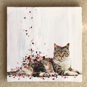 原画『花と猫』