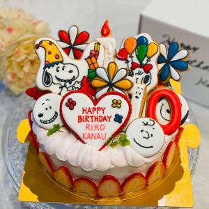 スヌーピーバースデーケーキと1月和柄ミッキーレポ
