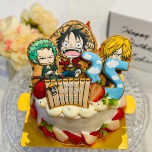 ONEPIECEバースデーケーキとシナモンロールパンと大丸さん