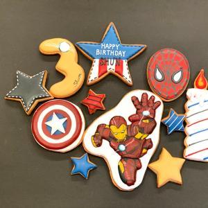 アイアンマンバースデーアイシングクッキーと一言言わせてもらいます