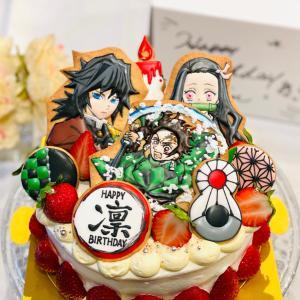 鬼滅の刃バースデーケーキとおうち串カツ