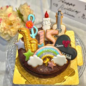楽器シリーズバースデーガトーショコラとわらび餅『霜月さんの里山』