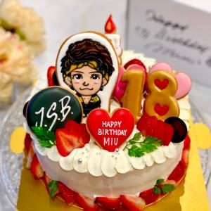 姉妹ちゃんバースデーケーキ