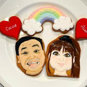 月亭八光さんとSHINOさん似顔絵アイシングクッキーと2回目ワクチン