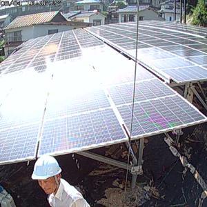 呉市の太陽光発電所7号基で防犯カメラの設置を完了