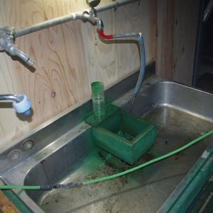 水が出た・・やったね・・ナッシーな大根の洗い場完成