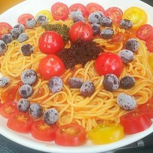 また・・・食べました。トマトたっぷりハラペーニョナポリタンパスタ美味しいワン🐶