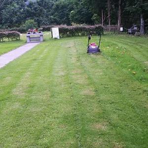 ジーちゃんは墓へ芝刈りに・・ばーちゃんは畑へ草取りに???