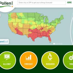 花粉がテキサス州を覆う。