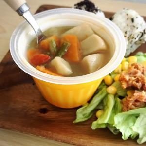 ひとりのお昼、受験生の夜食にぴったりな野菜ゴロゴロスープ(^^)