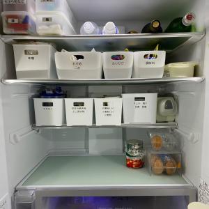 新しい冷蔵庫収納^ ^