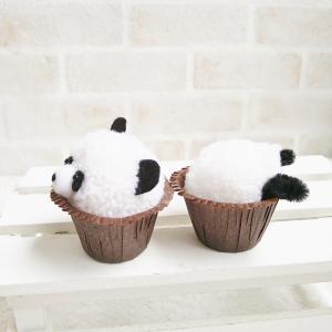 パンダのカップケーキ?それともパンダがカップに突っ込んだ?