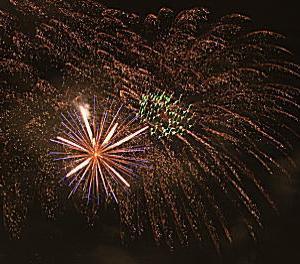亀戸中央公園の花火