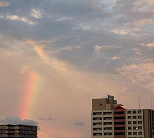 虹が。。。
