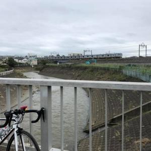 雨の合間に境川サイクリングロード 練習