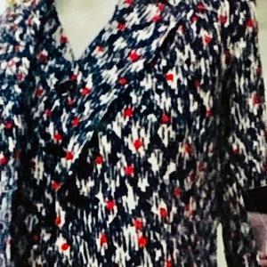 夏のアンサンブル。綿ローン、麻刺繍