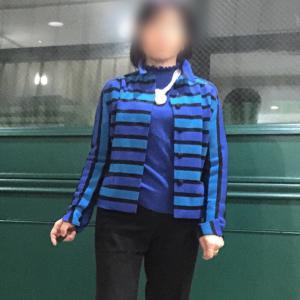 ブルーを着る ウールジャージー