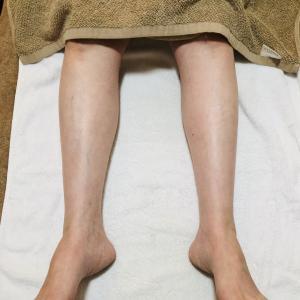 脚が細くなってる!感動♪のフットケア
