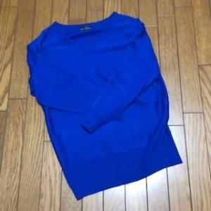 2/21 ブルーのセーター 毛玉が…&㉑集まる