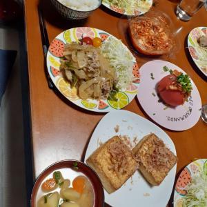 在宅夕飯チャレンジ3「生姜焼しらたき入り」